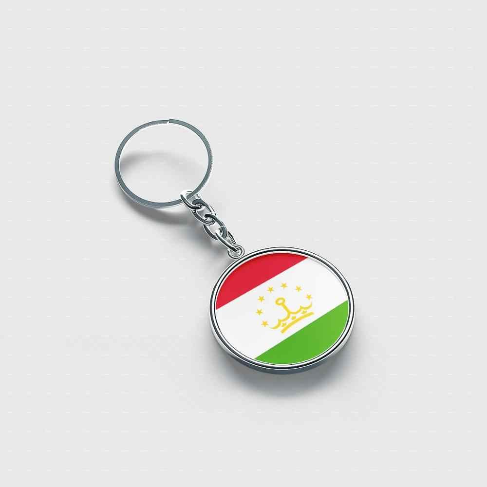 Tayikistán personalizada llavero lindo genial accesorios llaveros personalizados para hombres y mujeres niños