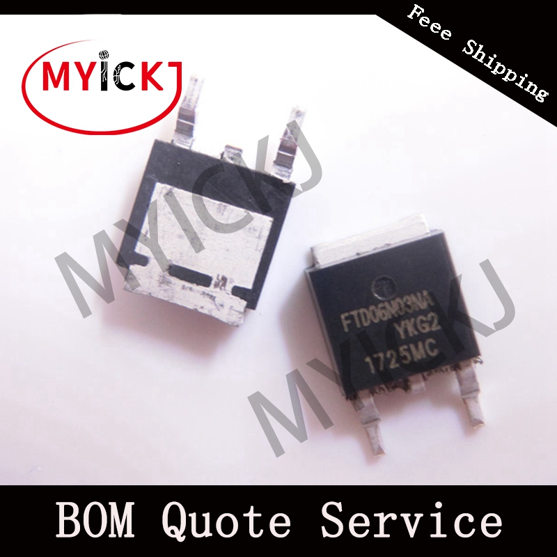 10PCS FTD06N03NA TO-252 N-Channel Enhancement Mode Power MOSFET IC CHIP
