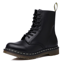 Doc Woman Boots Platform Martins Shoes Woman Leather Wool Winter Warm Winter