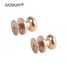 9 мм Золотой Винт Задняя крышка с винтами для кожаных ремней