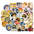 50PCS Dogecoin Stickers Cool Space Astronaut Doge Decal Sticker Toy For DIY Notebook Skateboard Laptop Guitar Helmet Stationery