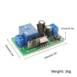 Image 5 - DieSe Newest 1 Button Universal Wireless Remote Control and 433Mhz AC 85~220V 1CH Relay Receiver Module For LED and Light Lamp