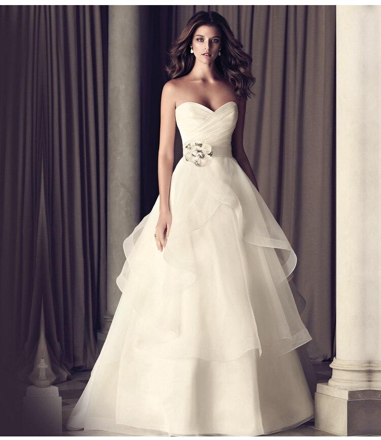 New Fashion Bride Natural Bandage Flower Bodycon Celebrity Vestido De Noiva 2015 Hot Sale Taffeta A Line Wedding Dress Plus Size