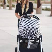 Baby Stroller Accessories Muslin Blanket Car Seat Cover Sunshiled Sunshade Safety Basket Cart Cradle Cap Visor Sun Canopy(China)