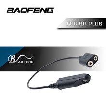 Baofeg UV9R בתוספת K ראש 2Pin ווקי טוקי אודיו כבל מתאם עבור Baofeng UV9R BF 9700 A 58 UV XR