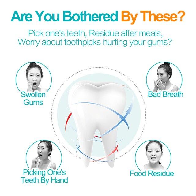 Cofoe 50pcs Dental Flosser Tooth Pick Medical Tooth Cleaner In Dental Flosser Oral Hygiene Teeth Cleaning Floss Tooth Cleaner