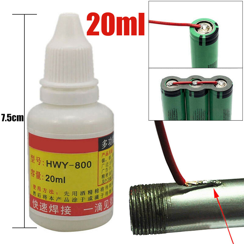 20ml Stainless Steel Flux Soldering Quick Paste Liquid Welding Solder Tool HWY-800 100% Brand New And High Quality Durable