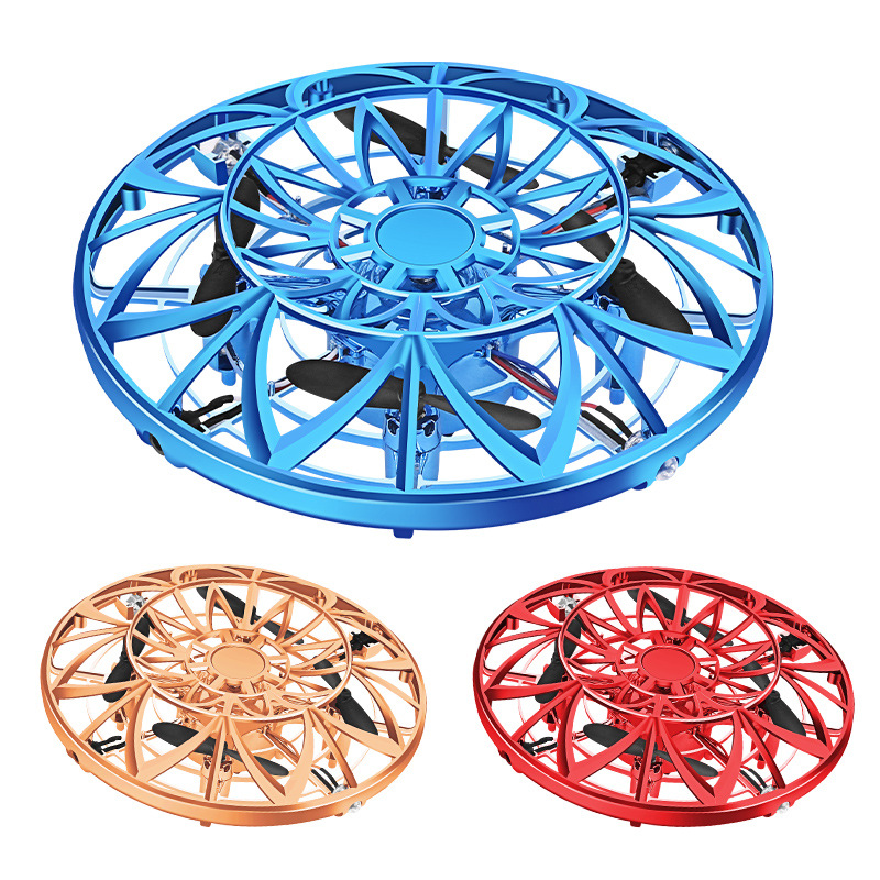 Cross Border Hot Selling UFO Induction Vehicle Suspension Mini Infrared LED Light Smart UFO Aircraft