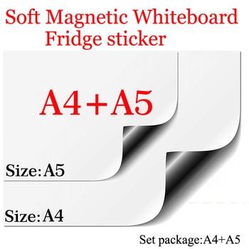 Biała tablica magnetyczna A4 + A5 zestaw pakiet miękkie biuro w domu kuchnia szkoła łatwe wymazywanie tablica tablica elastyczna podkładka magnes lodówka