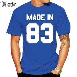 Made In '83 - Mens T-Shirt - 13 Colours - 33rd Birthday - Present - Gift -1983 Print T Shirt Mens Short Sleeve Hot Tops Tshirt