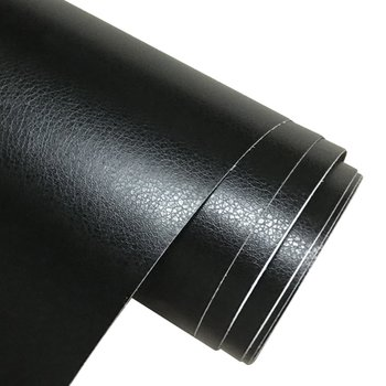 D-735 Leather Grain Texture Vinyl Car Wrap Sticker Decal Film Sheet Adhesive Sticker Interior Car Styling Covering image