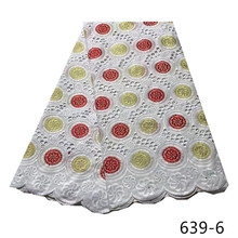 Real Embroiderey Swiss Voile Lace In Switzerland Small Holes High Quality African Nigerian Dry Lace Fabric For Garment Sew  639