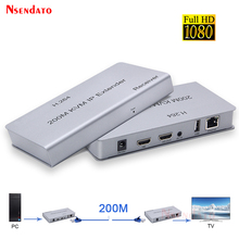 200M USB HD 익스텐더 RJ45 IP 네트워크 KVM 이상 IP 익스텐더 이상 Cat5e/6 HDMI 호환 2.0 KVM 익스텐더 USB 키보드 마우스