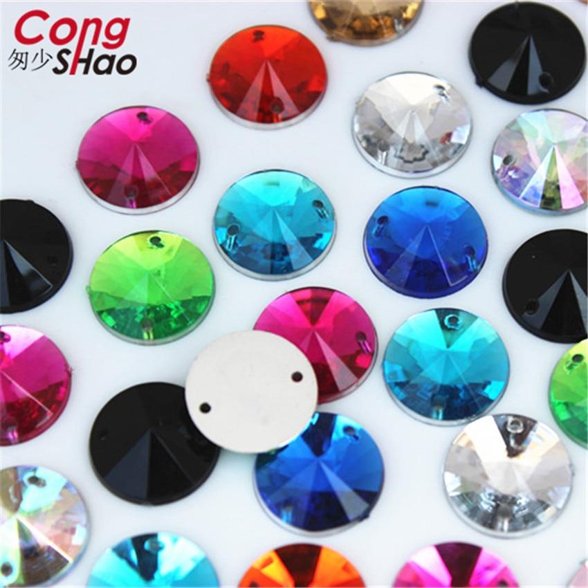 10pcs 18mm Acrylic Crystal Round Buttons Beads Gems Wedding Decor Scrapbooking