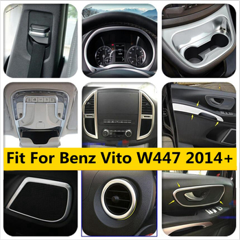 Yimaautotrims Matte Interior Refit Kit For Mercedes-Benz Vito W447 2014 - 2019 Dashboard / Cup Holder Air Handle Cover Trim