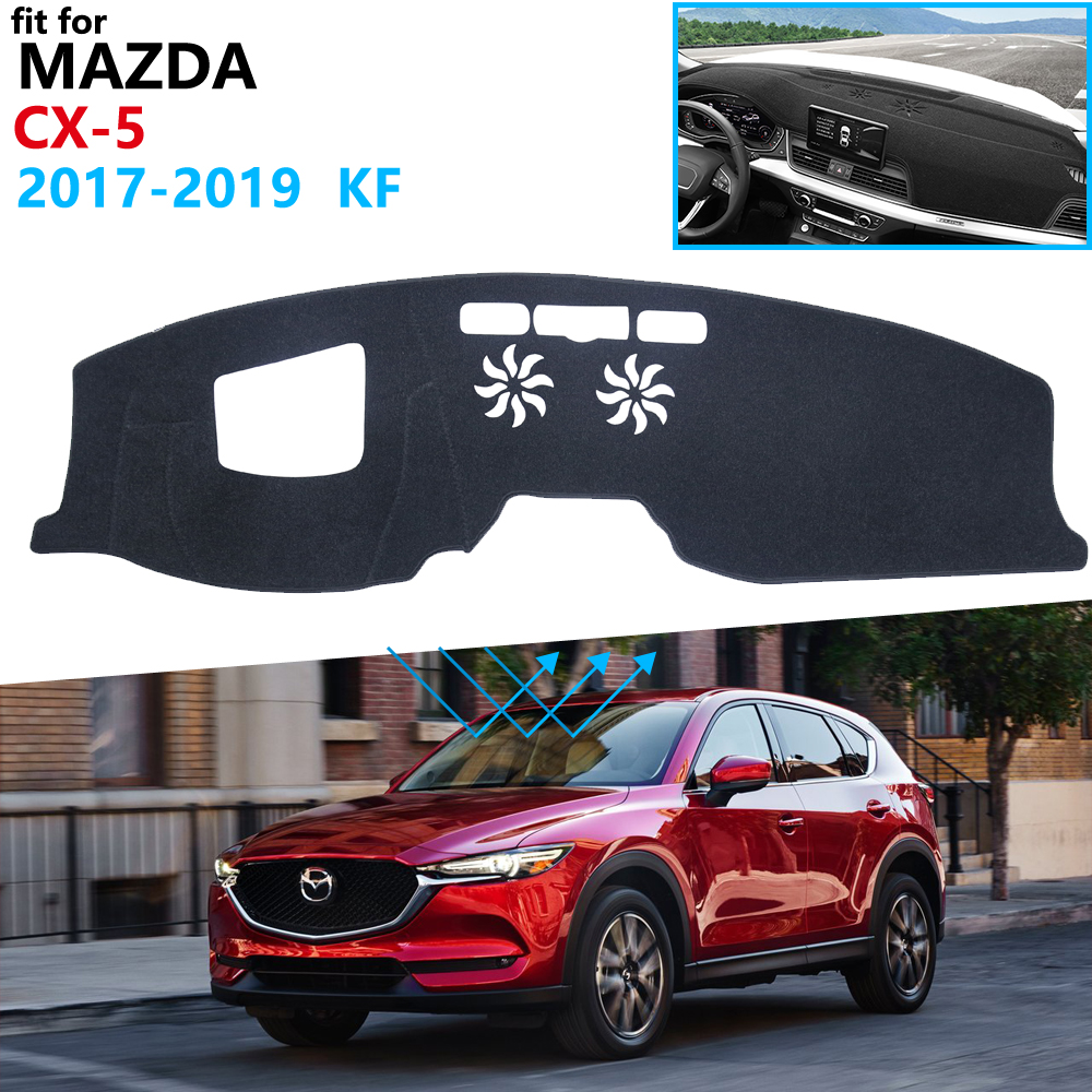 Dashboard Cover Protective Pad <font><b>for</b></font> <font><b>Mazda</b></font> <font><b>CX</b></font>-<font><b>5</b></font> 2017 <font><b>2018</b></font> 2019 MK2 KF CX5 <font><b>CX</b></font> <font><b>5</b></font> Car <font><b>Accessories</b></font> Dash Board Sunshade Anti-UV Carpet image