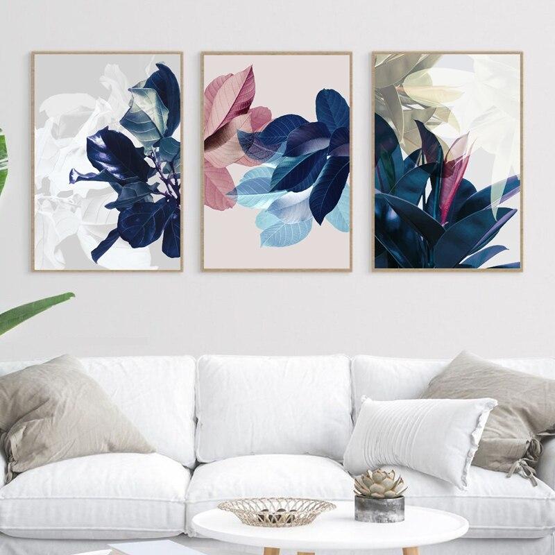 Watercolor Leaves Canvas Paintings