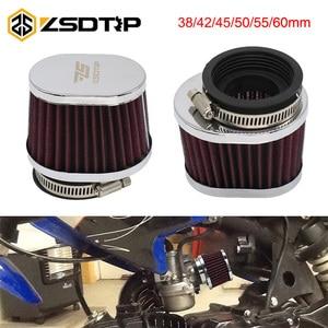 ZSDTRP 38 42 45 50 55 60 мм воздушный фильтр для мотоцикла, мотокросса, скутера, воздухоочиститель для PWK 21/24/26/28/30/32/33/34/35