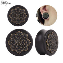 Miqiao 2pcs New Bamboo Wood Ear Plugs Gauges Flesh Tunnel Expander 10-25mm Piericing Stretcher Body Piercing Jewelry(China)