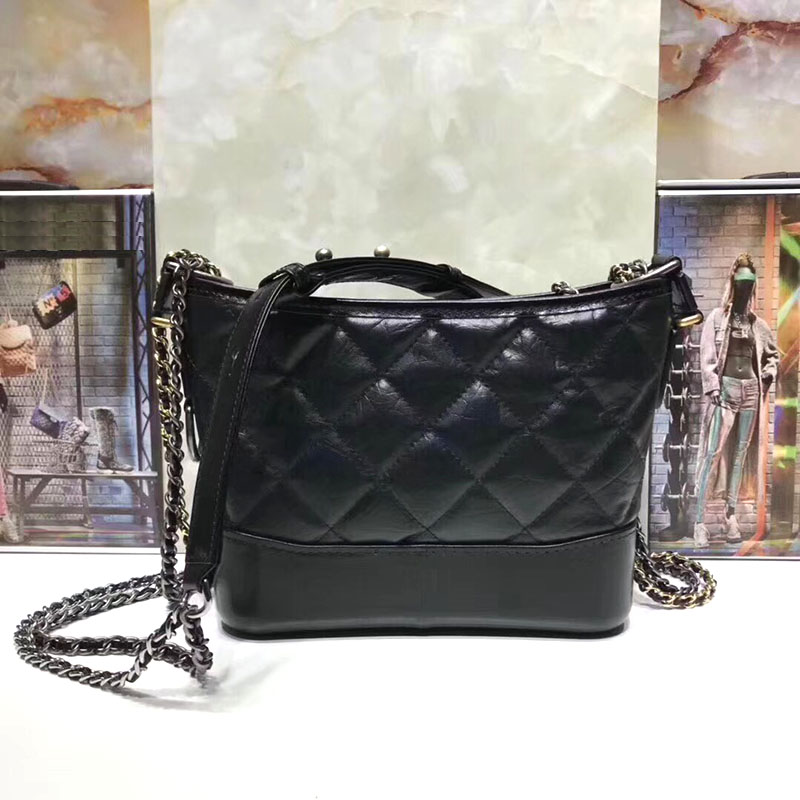 Luxury Hobo Handbags Vintage Leather Women Shoulder Bags Designer Feminina Aged Calfskin Crossbody Bag Woc Brand Chain Bag