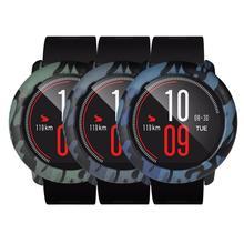 Kolorowe oprawki chroń obudowa do xiaomi Huami Amazfit tempo inteligentny zegarek kamuflaż Camo osłona z poliwęglanu dla Huami Amazfit Pace Smart tanie tanio centechia Przypadki Android For Xiaomi Huami Amazfit Support