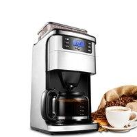 Himoskwa 3 em 1 americano máquina de café automático moedor de café a vapor aço inoxidável 24 horas nomeação 12 xícara