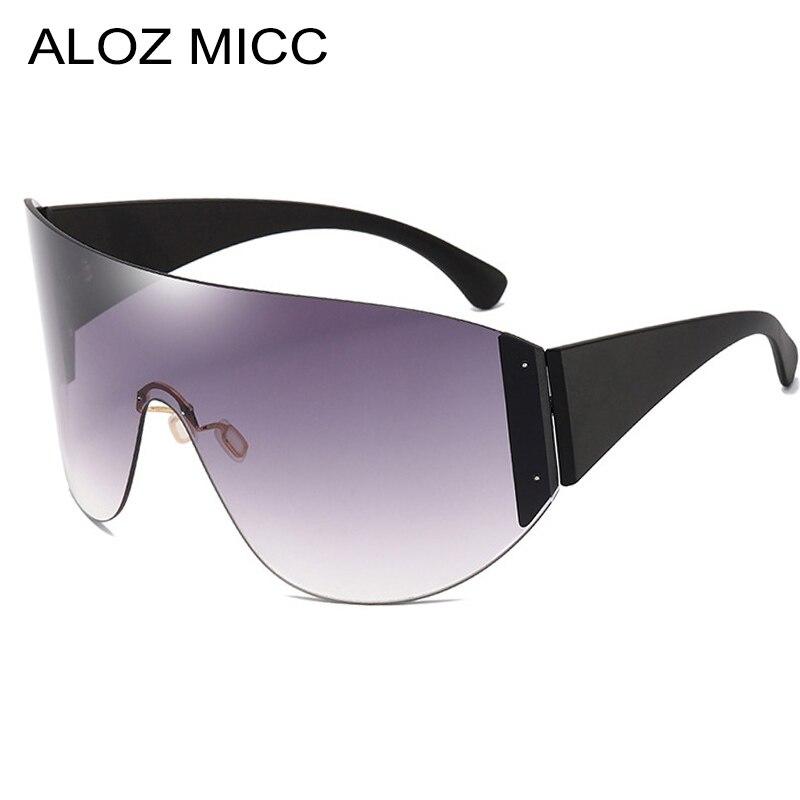 ALOZ MICC Ladies Big Frame Goggle Sunglasses Men Women Brand Designer One piece Mask Sunshade Box Fashion Female Models Q690