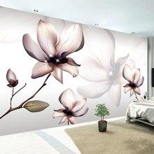 Пользовательские 3d фотообои цветок современный дизайн гостиная