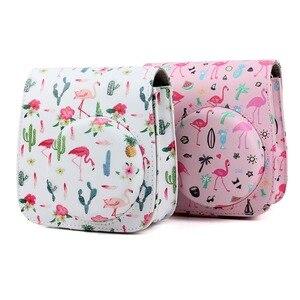 Image 4 - Fuji Fujifilm Instax Mini 9 Mini 8 Camera Bag PU Leather Instant Camera Accessories Shoulder Bag Protector Cover Case With Strap