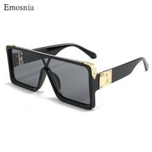 Gafas de sol cuadradas de gran tamaño para mujer, lentes de sol cuadradas de gran tamaño, de marca de lujo, a la moda, planas, negras, grises, clásicas, tendencia colorida, 2019