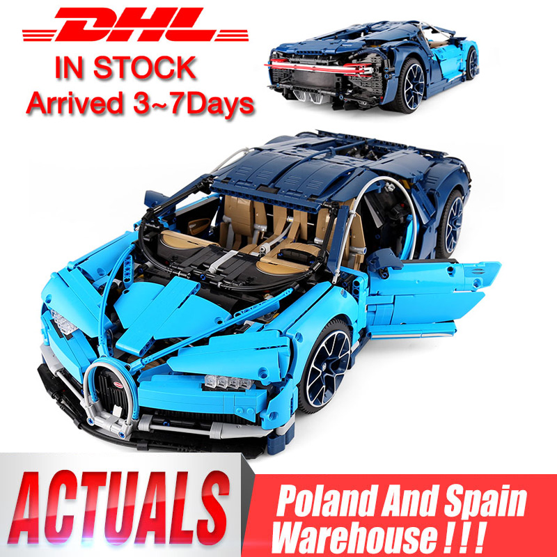 DHL 20086 Technic Car Compatible With Legoing 42083 Bugattis Chiron Car Model Toys Building Blocks Bricks Kids Christmas Gifts