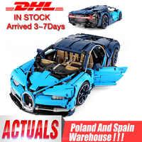 Dhl 20086 técnica carro compatível com legoing 42083 bugattis chiron modelo de carro brinquedos blocos de construção tijolos crianças presentes natal