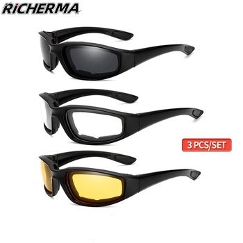 Fashionable Motorcycle Glasses Racing Anti-glare Windproof Vintage Men Women Safety Goggles Eyeglasses Sunglasses Eye Protection 1