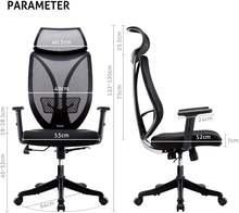 Эргономичный офисный стул руководителя с высокой спинкой регулируемые