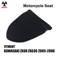 Motorcycle Street Bike Rear Passenger Cushion Leather Seat Cover For KAWASAKI ZX6R ZX636 ZX 6R 636 2005 2006
