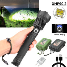 1000m XHP90.2 powerful LED Flashlight USB Rechargable Zoom T