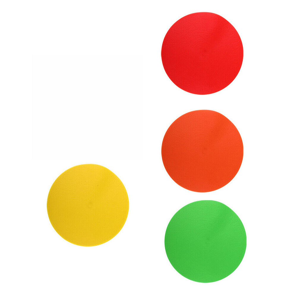 1pc Spot Markers/Flat Cones Floor Circles For Exercise Drills Soccer Basketball Sports Speed Agility Training