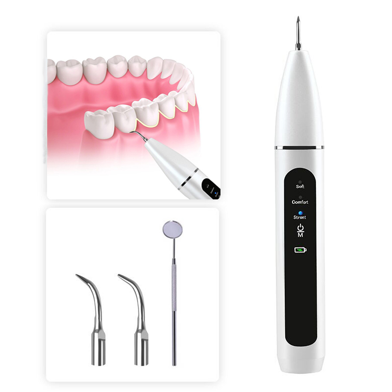 Electric Ultrasonic Dental Calculus Remover 3 Working Mode Replaceable Working Tips Dental Plaque Tartar Stains Removal Cleaner