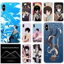 luxury Silicone Phone Case Anime Bungou Stray Dogs Dazai Osamu for