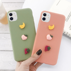 Image 4 - USLION 3D Candy Color Avocado Letter Soft Phone Case For iPhone 11 Pro XS MAX XR X Silicone Case For iPhone 7 6 6S 8 Plus Cover