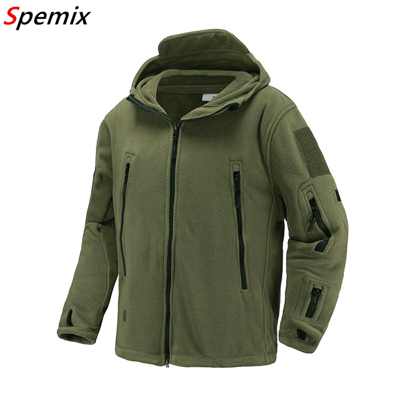 US UK Military Fleece Tactical Jacket Men Thermal Warm Hooded Coat Outdoors Pro Military Softshell Hike Outerwear Army Jackets
