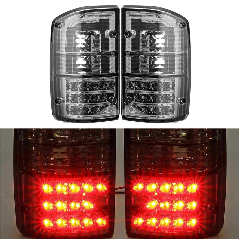 DWCX Car Side LED Rear Tail Light Lamps Fit For Nissan Patrol GQ Y60 GR 1987 1988 1989 1990 1991 1992 1993 1994 1995 1996 1997
