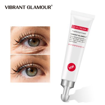 VIBRANT GLAMOUR peptyd kolagenowy krem pod oczy przeciw zmarszczkom usuń worek na oczy anty opuchlizny ciemne koła granulki tłuszczu nawilżająca pielęgnacja tanie i dobre opinie Jedna jednostka Unisex CN (pochodzenie) Do oczu Przeciw obrzękom podkrążone oczy antystarzeniowe Nawilżające VG-YB004