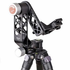 Image 2 - XILETU XGH 2 Pro Heavy Duty Aluminum alloy Gimbal Tripod Head Stabilizer Quick Release Plate for Telephoto Lens photography bird