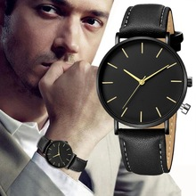 Montre Homme Fashion Simple Watch Men Black Quartz Watch Leather Bracelet Casual Wrist Watch Male Clock Men relogio masculino ochstin casual nylon watch men waterproof quartz watch male clock calender canvas nylon wrist watch men relogio masculino