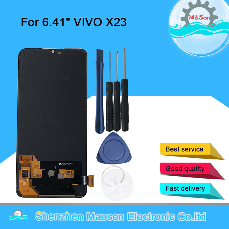 M Sen For 6 41 VIVO X23 AMOLED LCD Display Screen And Touch Panel Screen Digitizer