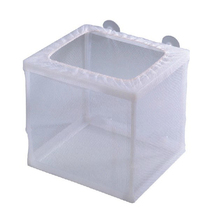 White Aquarium Net Isolation Box Small Fry Breeding Box Suction Cup Aquarium Mesh Breeding Box brennan jobs l small fry
