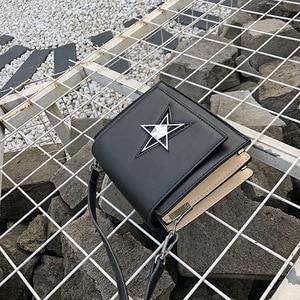 Image 5 - OLUOLIN Yellow five pointed star Lock Leather Shoulder Crossbody handbag Messenger Purse Flap PU Leather Travel Bags Shoulder