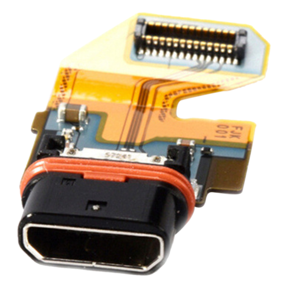 Metal Ribbon Cable E6853 Connector E6883 Professional Charging Port USB Replacement Mobile Phone Parts Easy Install For Sony Z5P