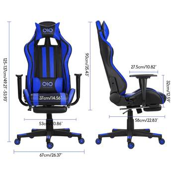 WCG Gaming Chair Computer Armchair Home Swivel Office Chair Lying Household Lifting Adjustable Desk Chair Racing Gamer Chair 4